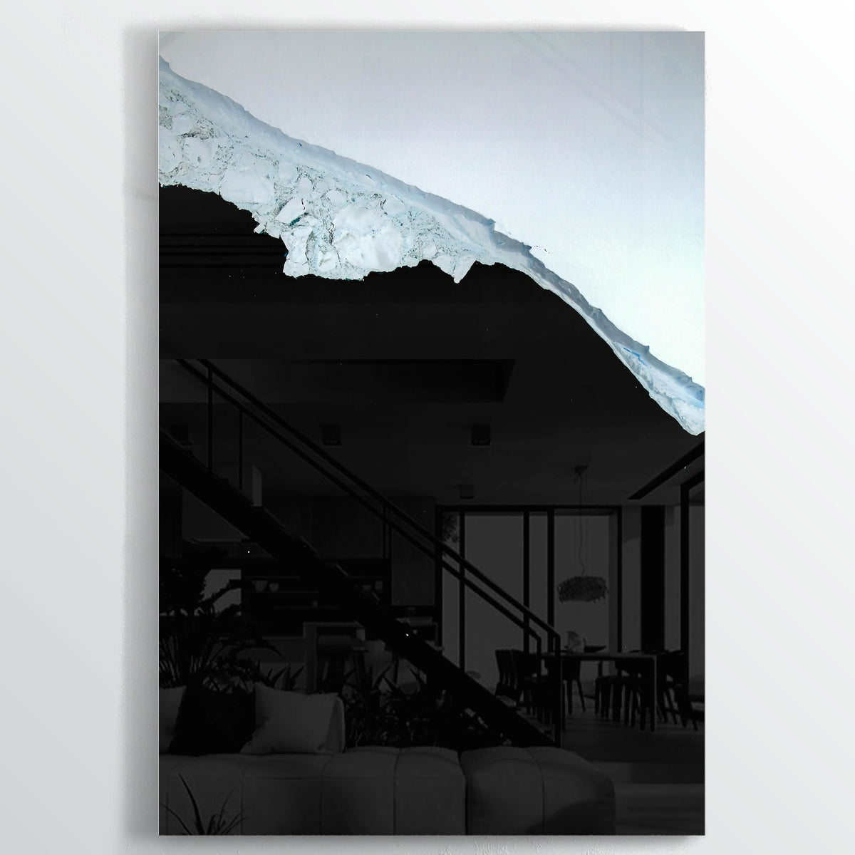 Larsen Glacier Earth Photography - Floating Acrylic Art