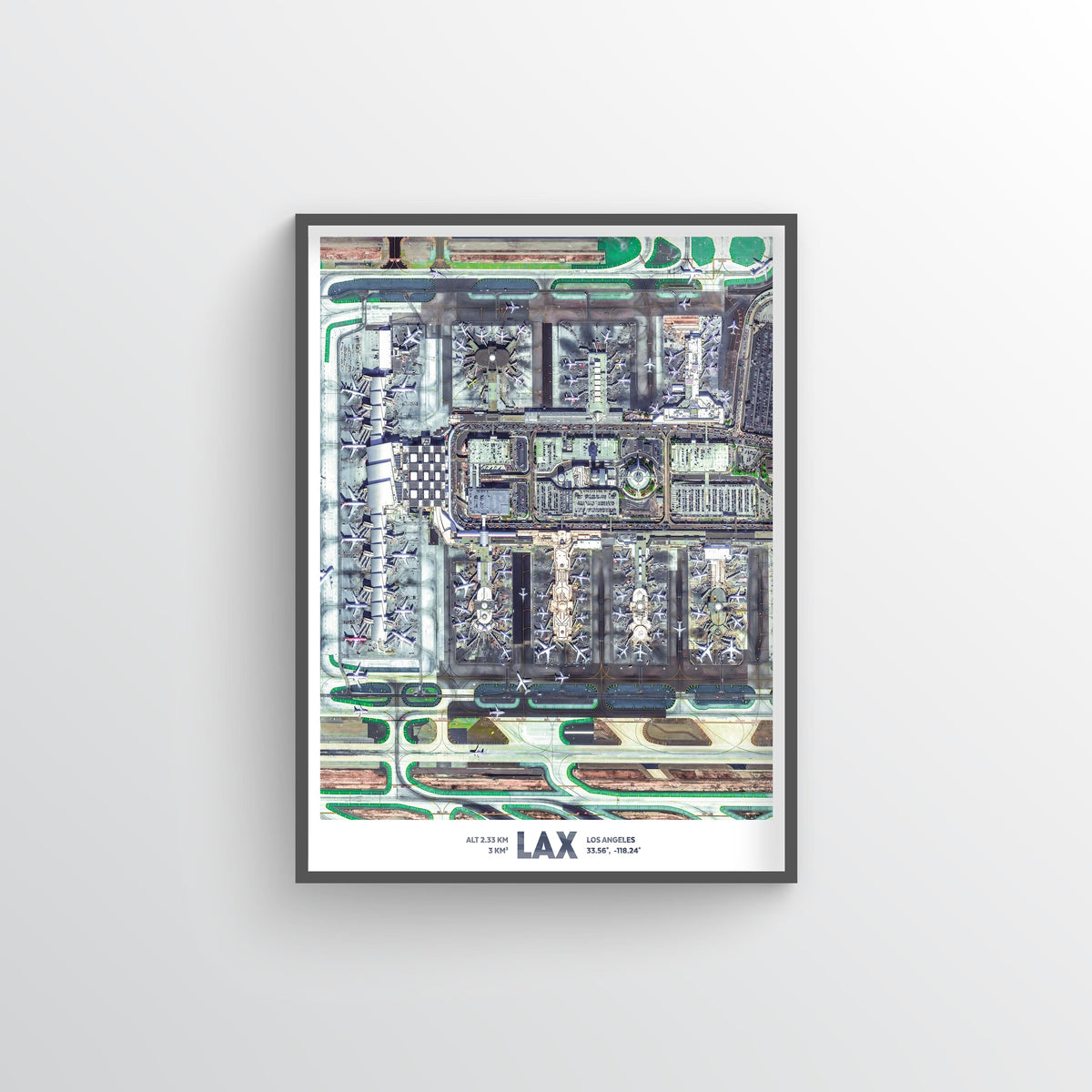 LAX Earth Photography - Art Print