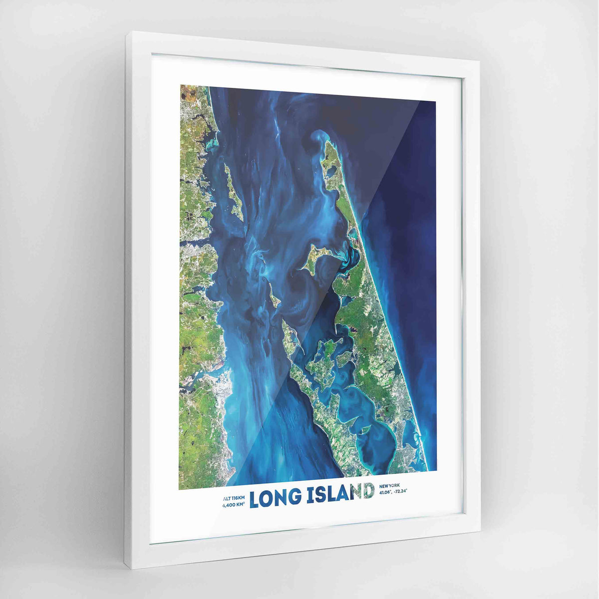 Long Island Earth Photography Art Print - Framed