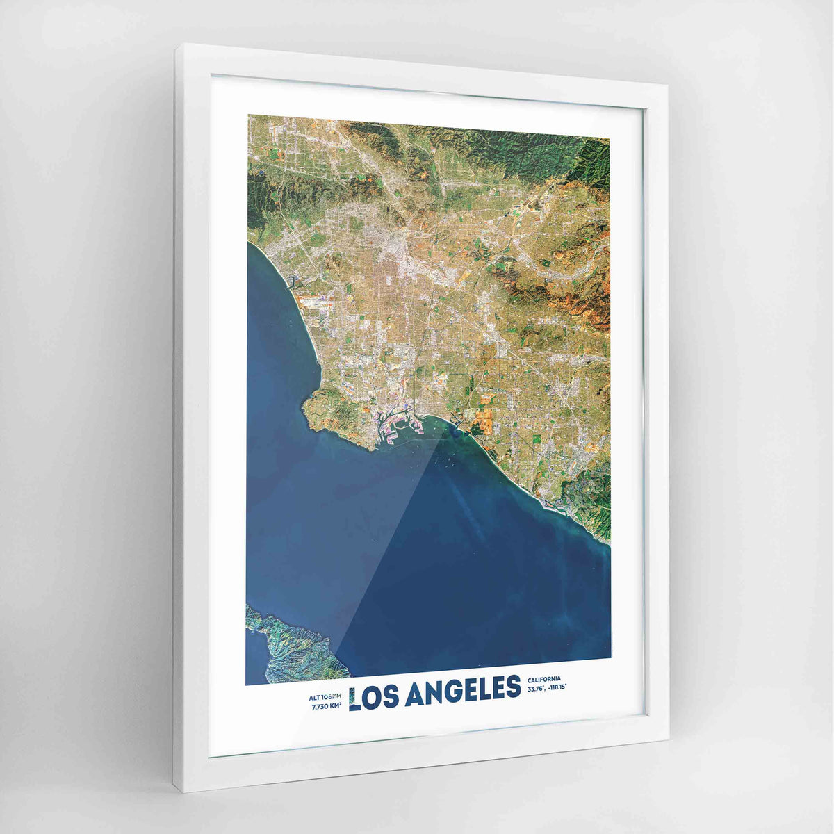 Los Angeles Earth Photography Art Print - Framed