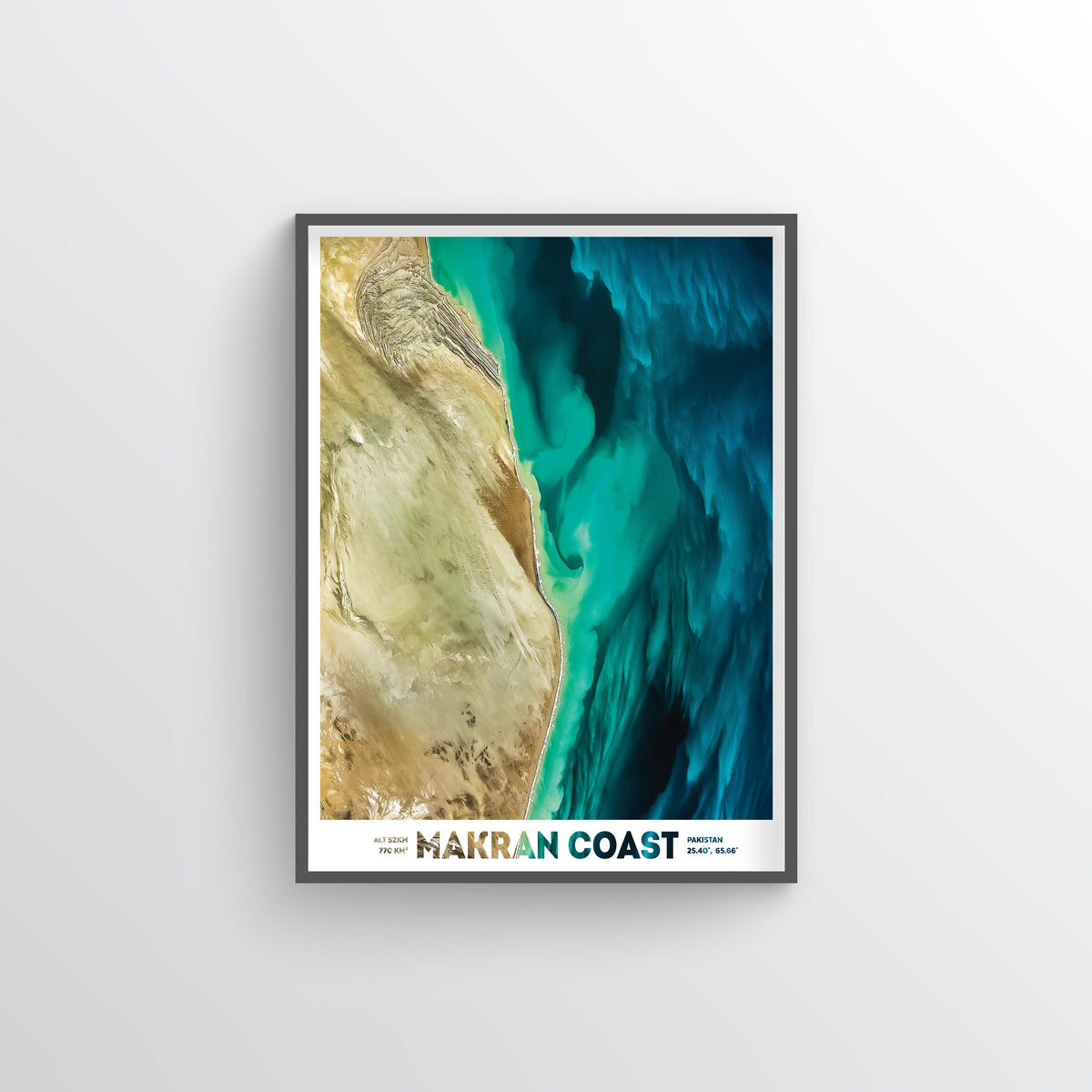 Makran Coast Earth Photography - Art Print