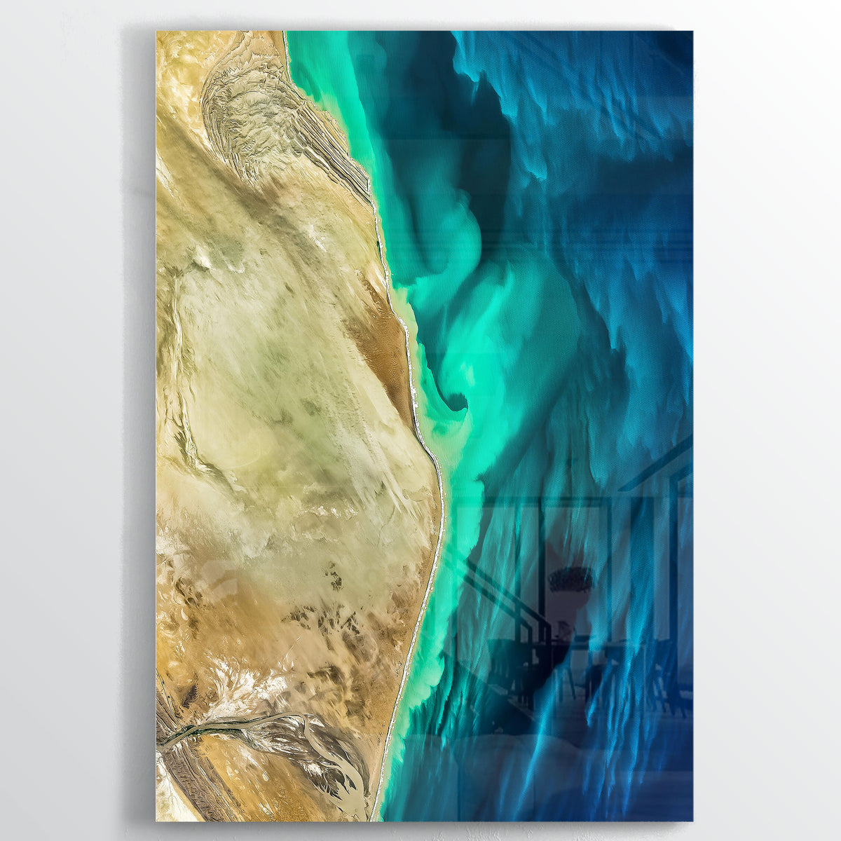 Makran Coast Earth Photography - Floating Acrylic Art