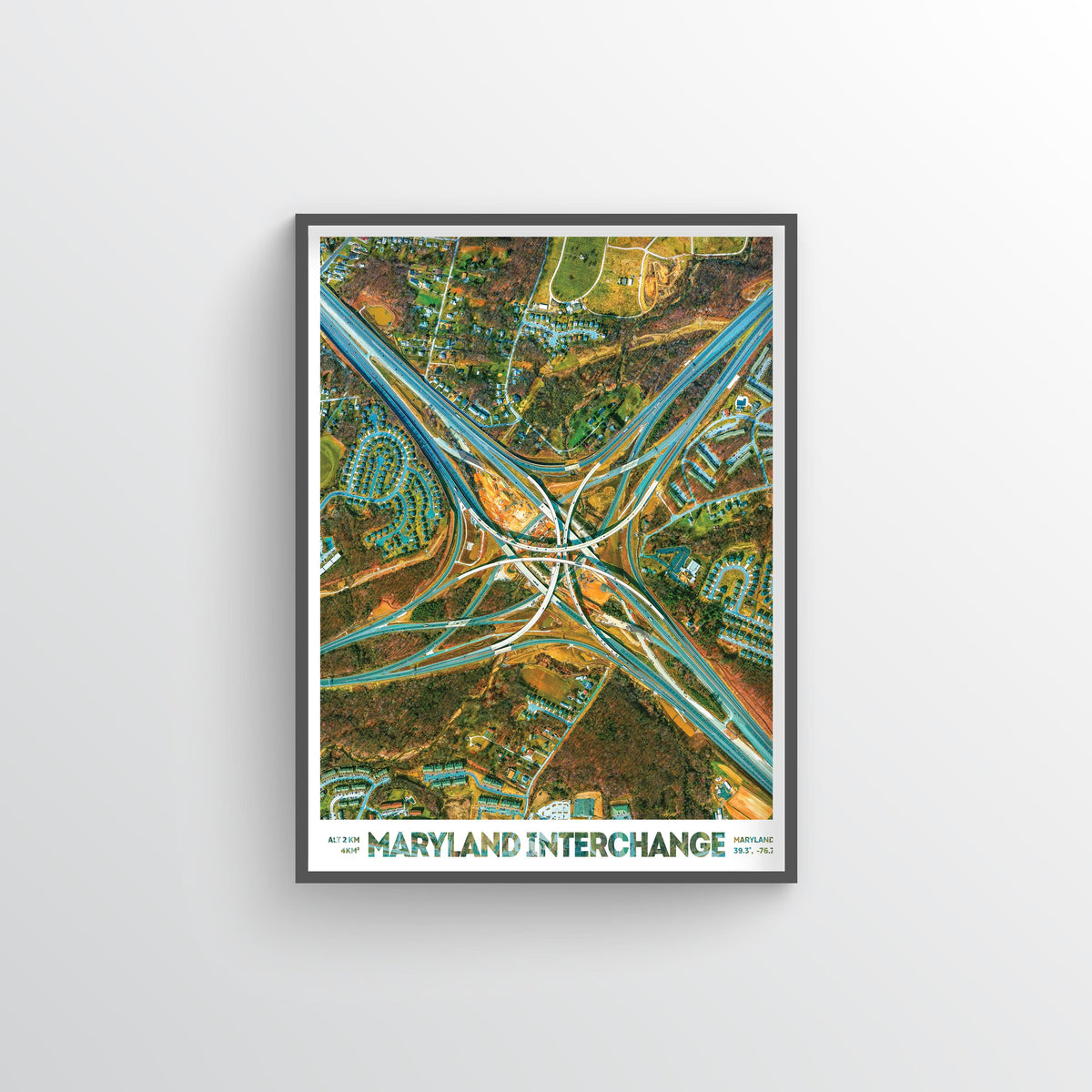 Maryland Interchange Earth Photography - Art Print