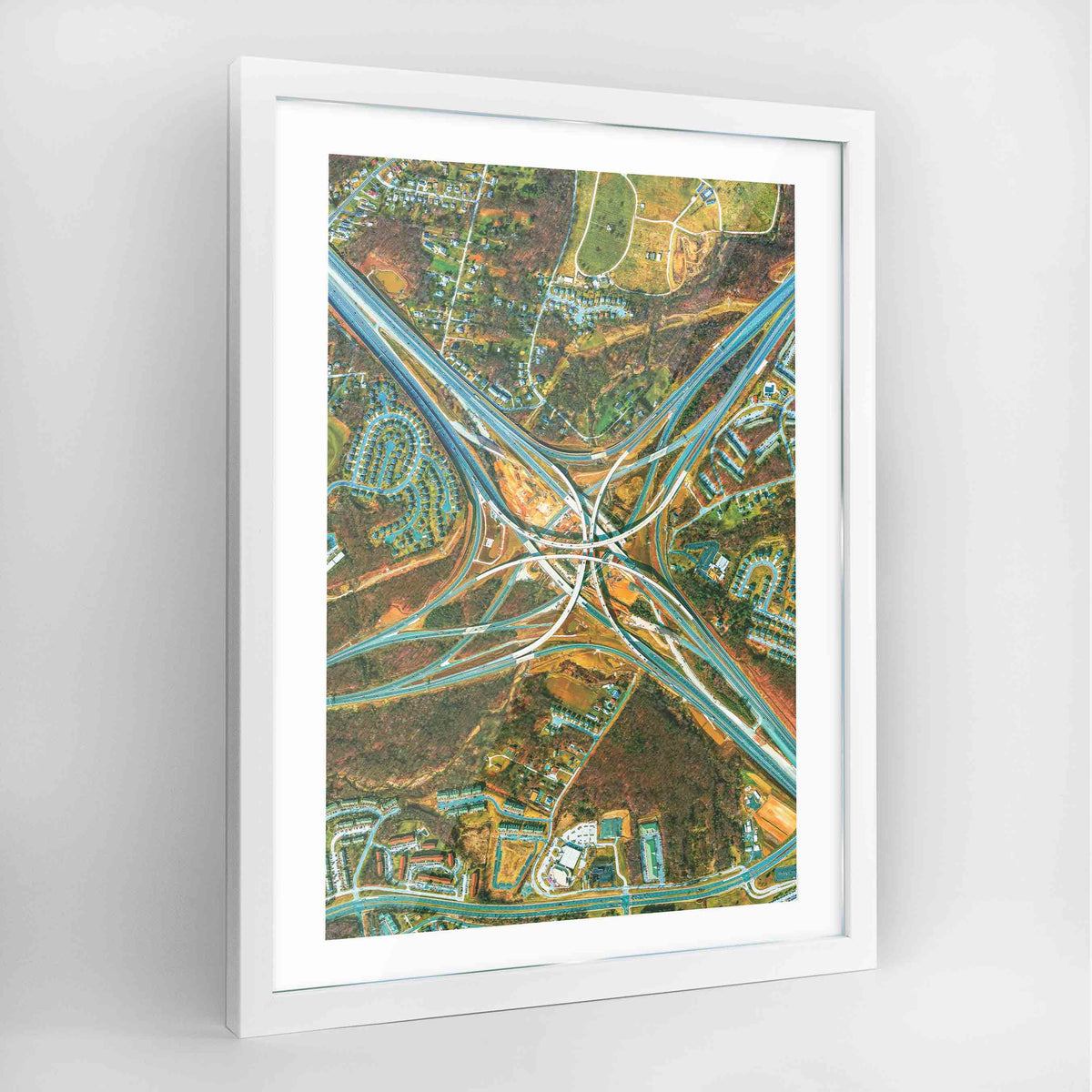 Maryland Interchange Earth Photography Art Print - Framed