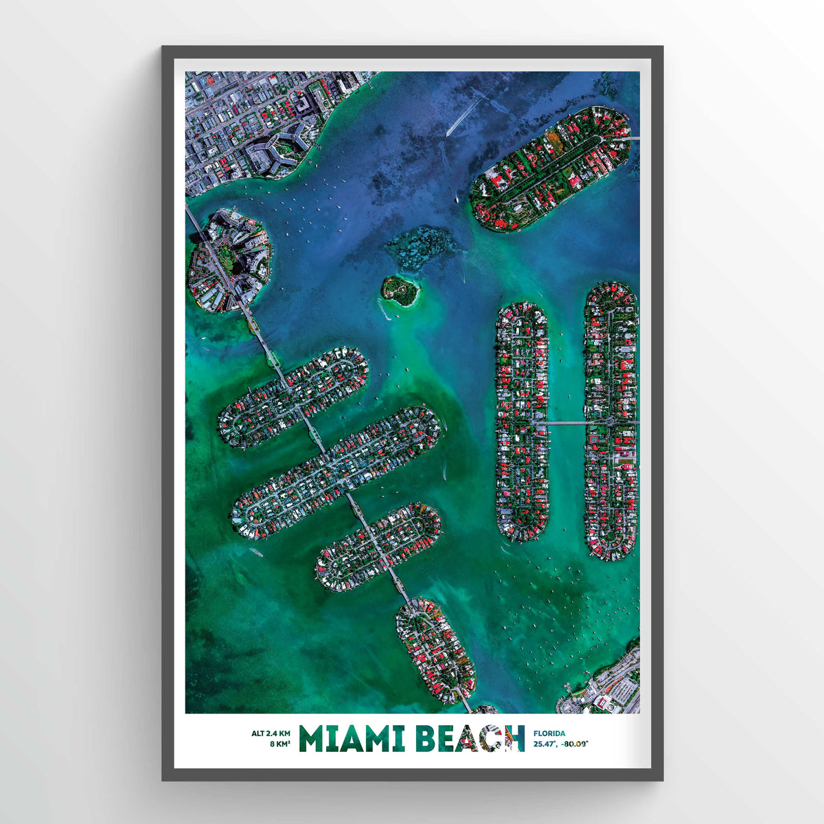 Miami Beach Earth Photography - Art Print