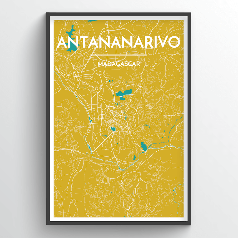 Antananarivo Map Art Print - Point Two Design