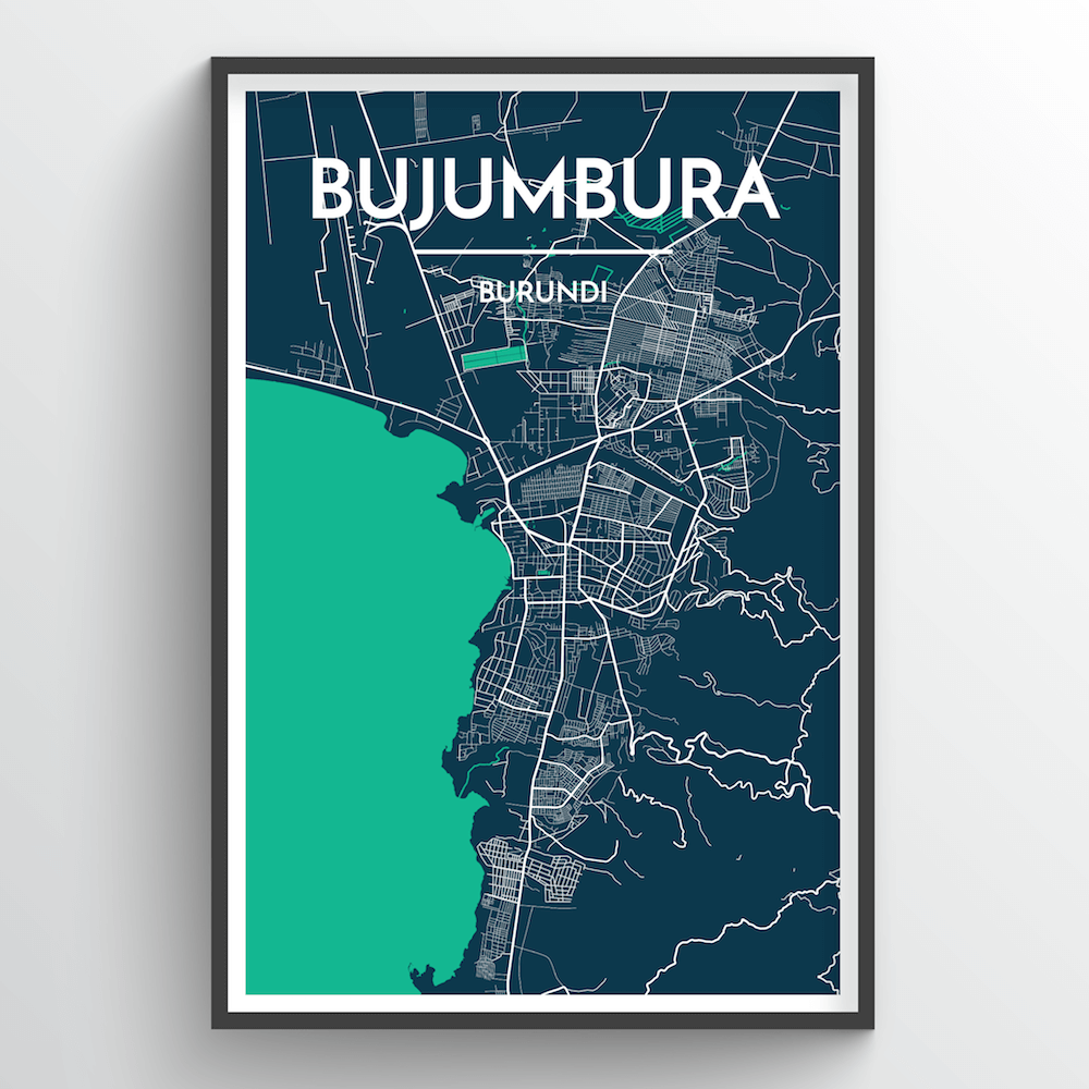 Bujumbura Map Art Print - Point Two Design