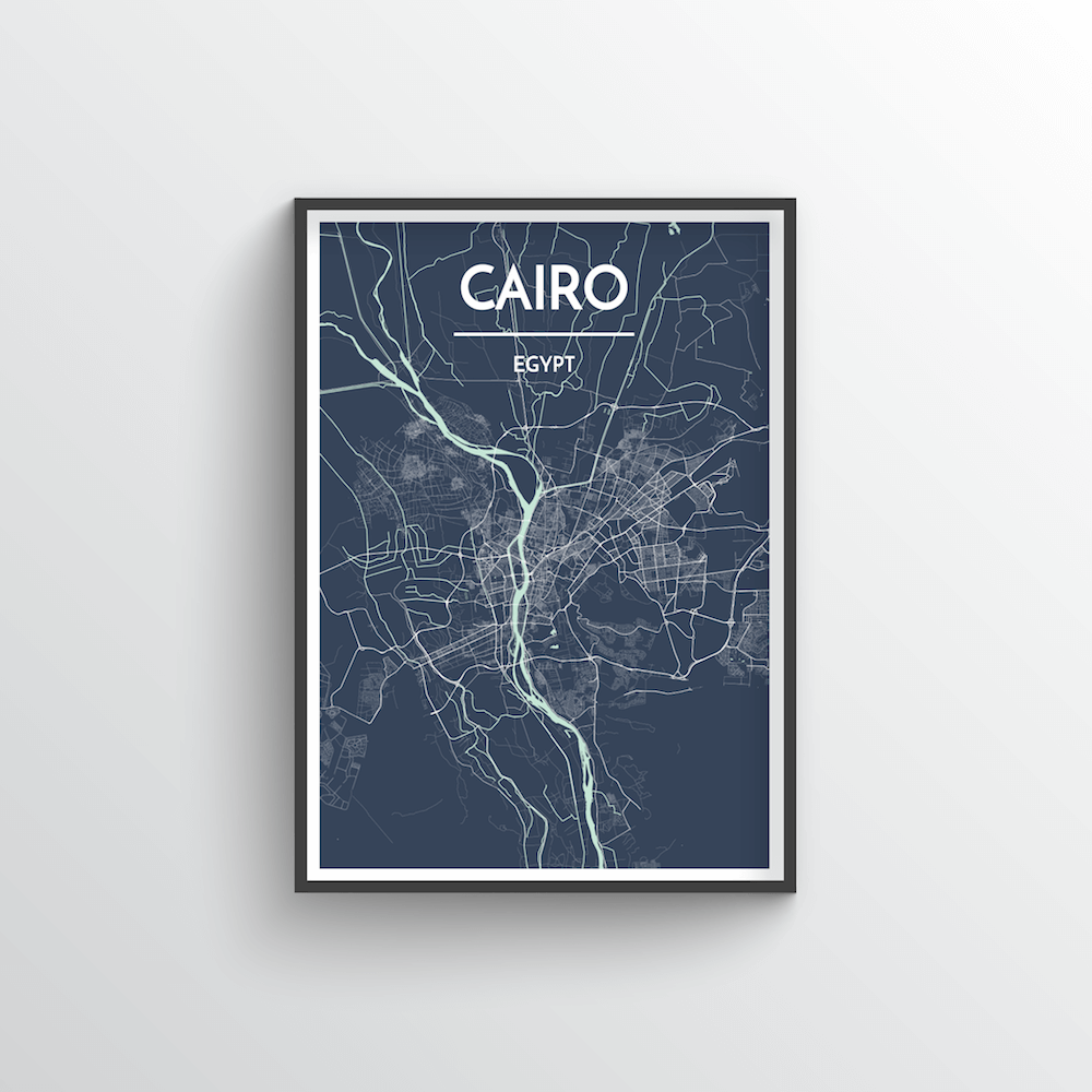 Cairo Map Art Print - Point Two Design