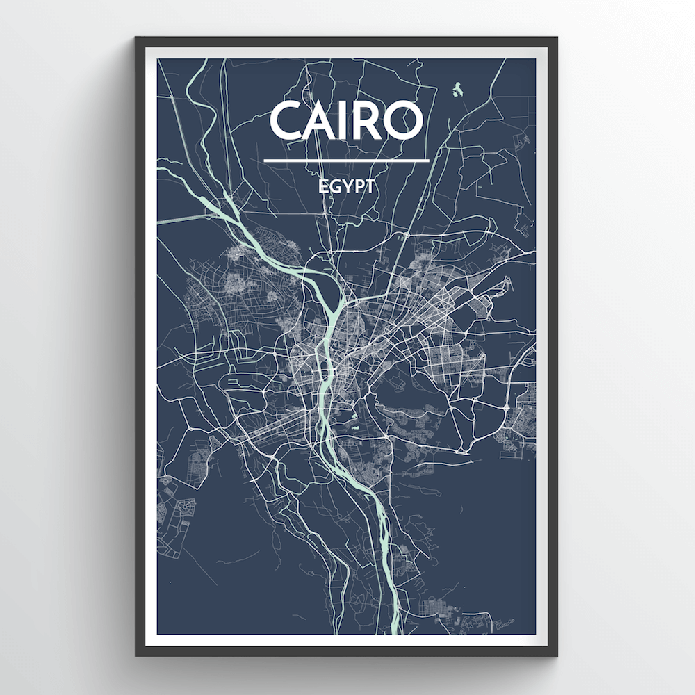 Cairo City Map Art Print - Point Two Design