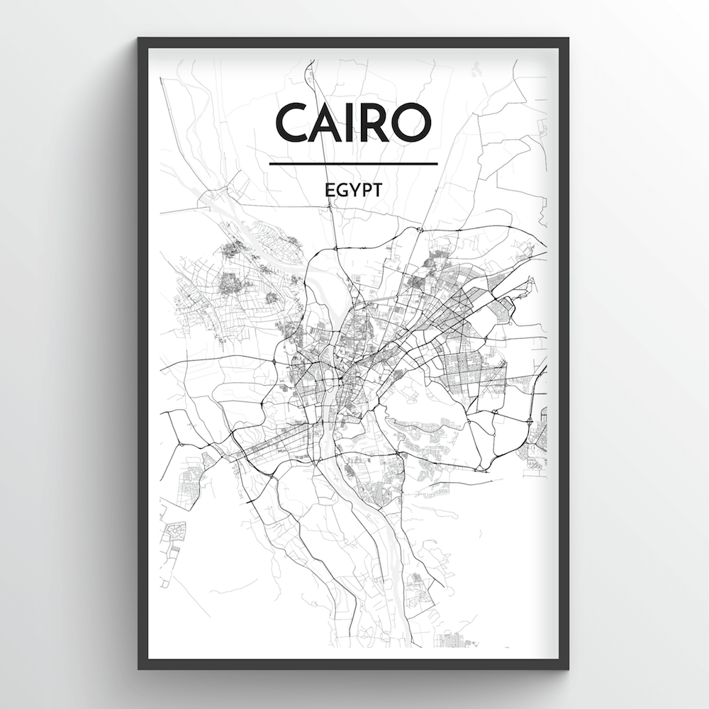 Cairo City Map Art Prints - High Quality Custom Made Art - Point Two on