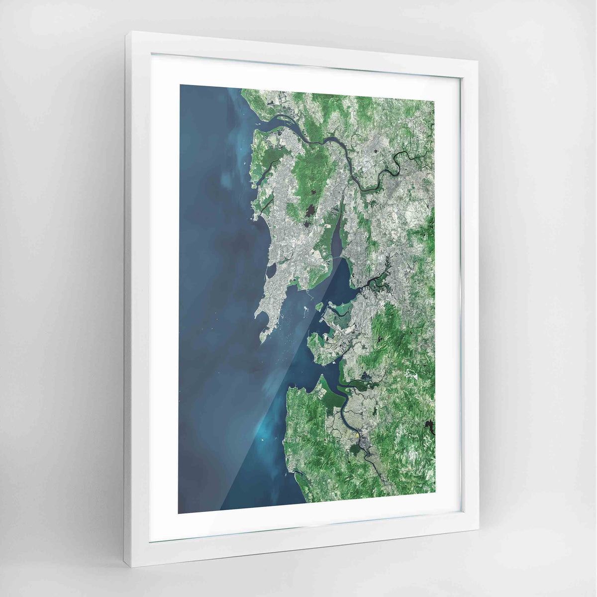 Mumbai Earth Photography Art Print - Framed