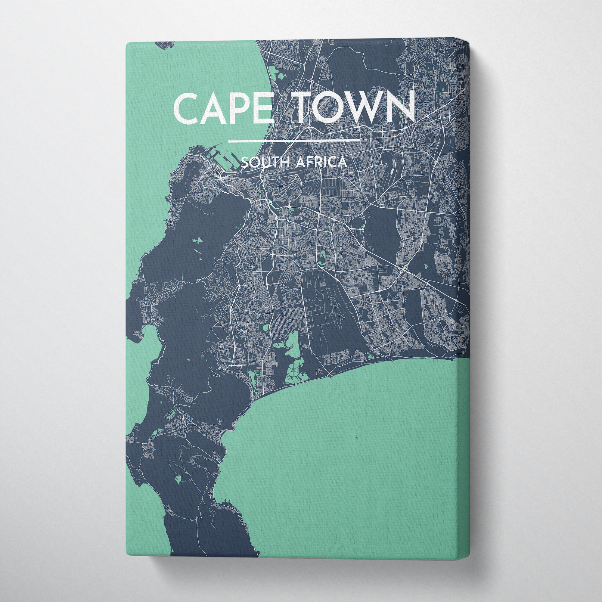 Cape Town Map Canvas Wrap - Point Two Design