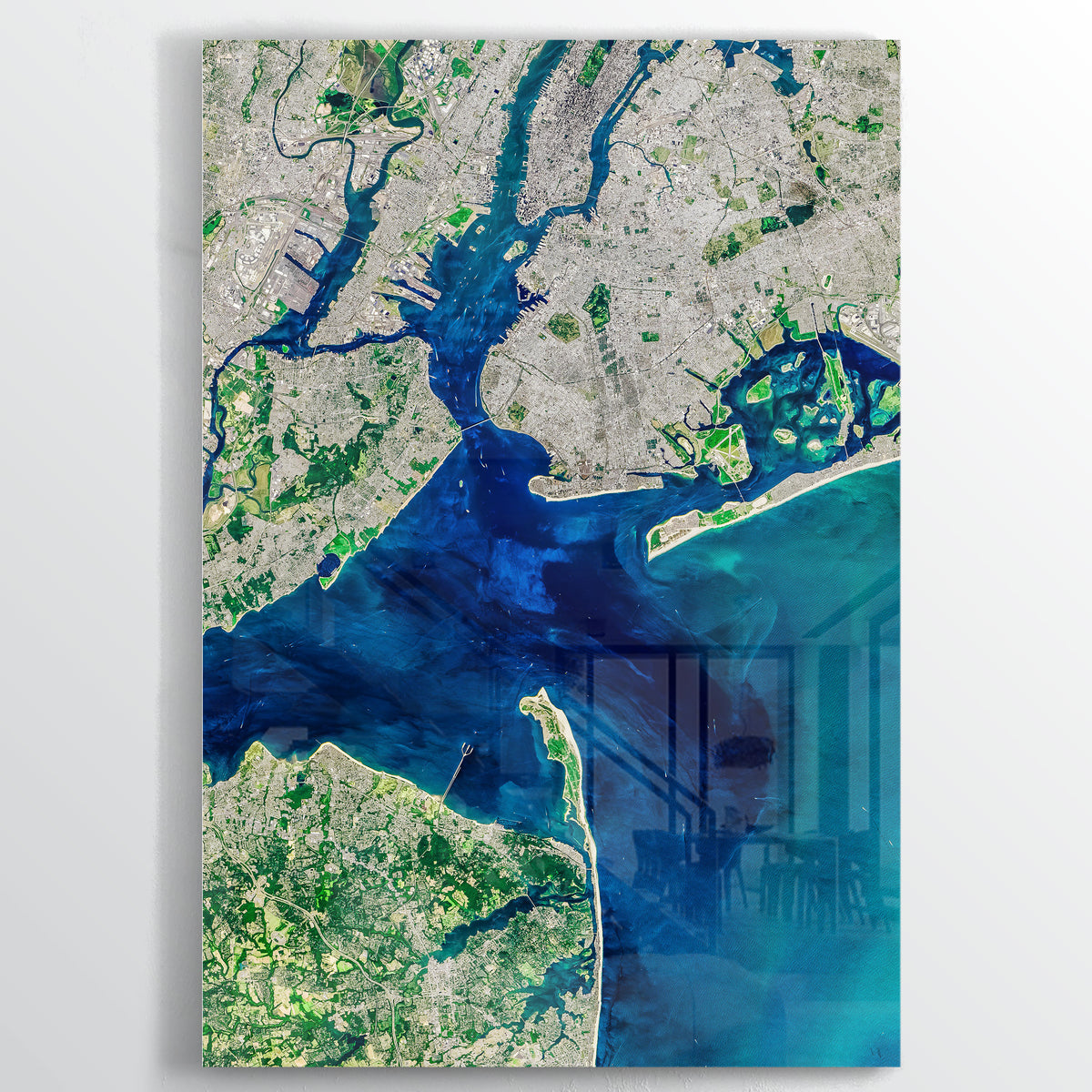 New York Bay Earth Photography - Floating Acrylic Art