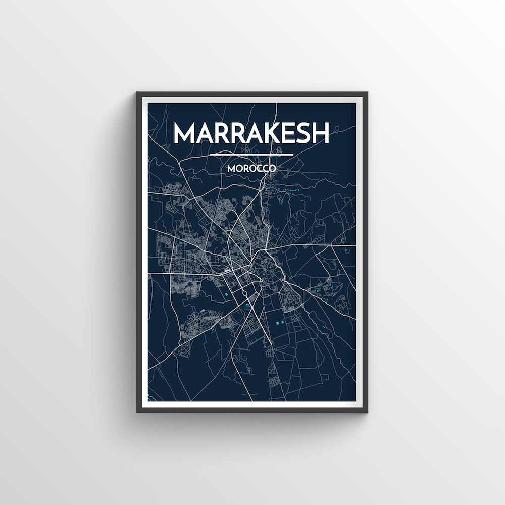 Marrakesh Map Art Print - Point Two Design