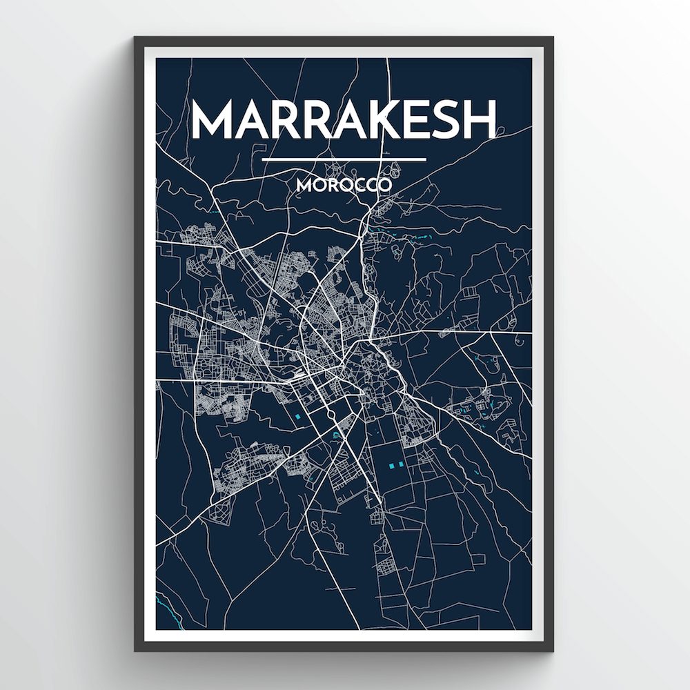 Marrakesh City Map Art Print - Point Two Design