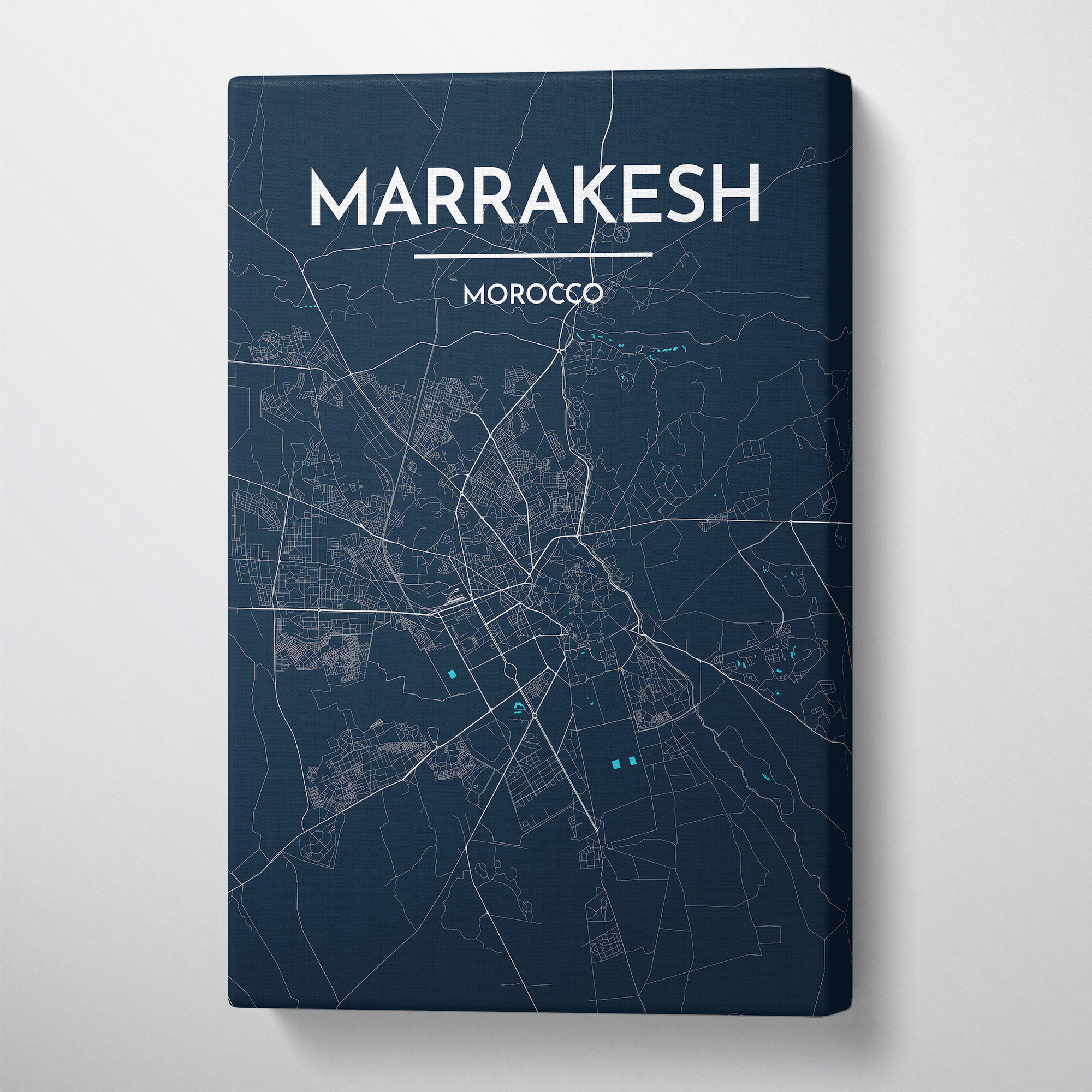 Marrakesh City Map Canvas Wrap - Point Two Design