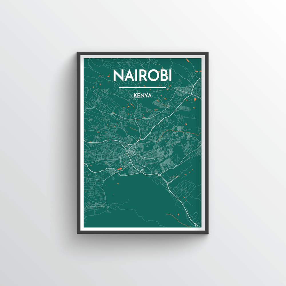Nairobi Map Art Print - Point Two Design