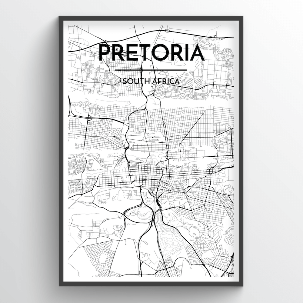 Pretoria Map Art Print - Point Two Design
