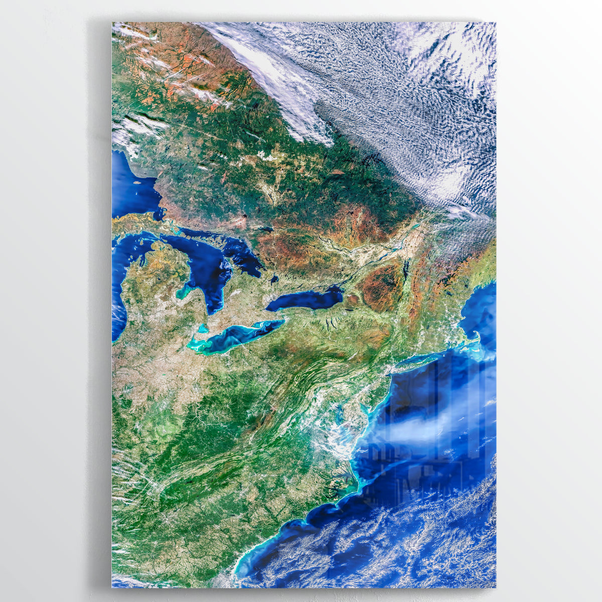 Northeast America Earth Photography - Floating Acrylic Art