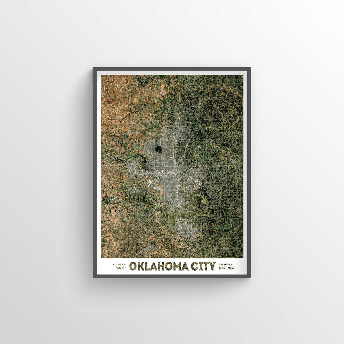 Oklahoma City Earth Photography - Art Print