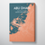 Abu Dhabi Map Canvas Wrap - Point Two Design