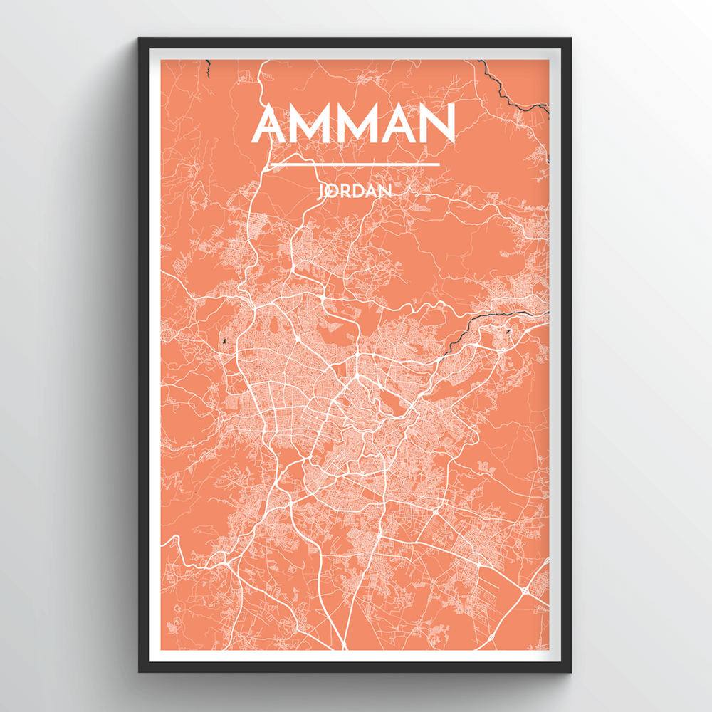 Amman Map Art Print - Point Two Design