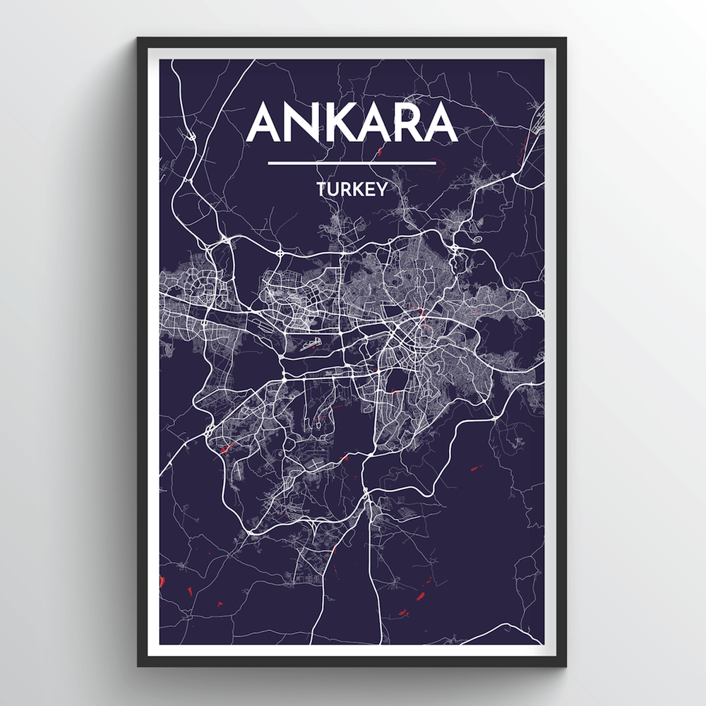 Ankara Map Art Print - Point Two Design