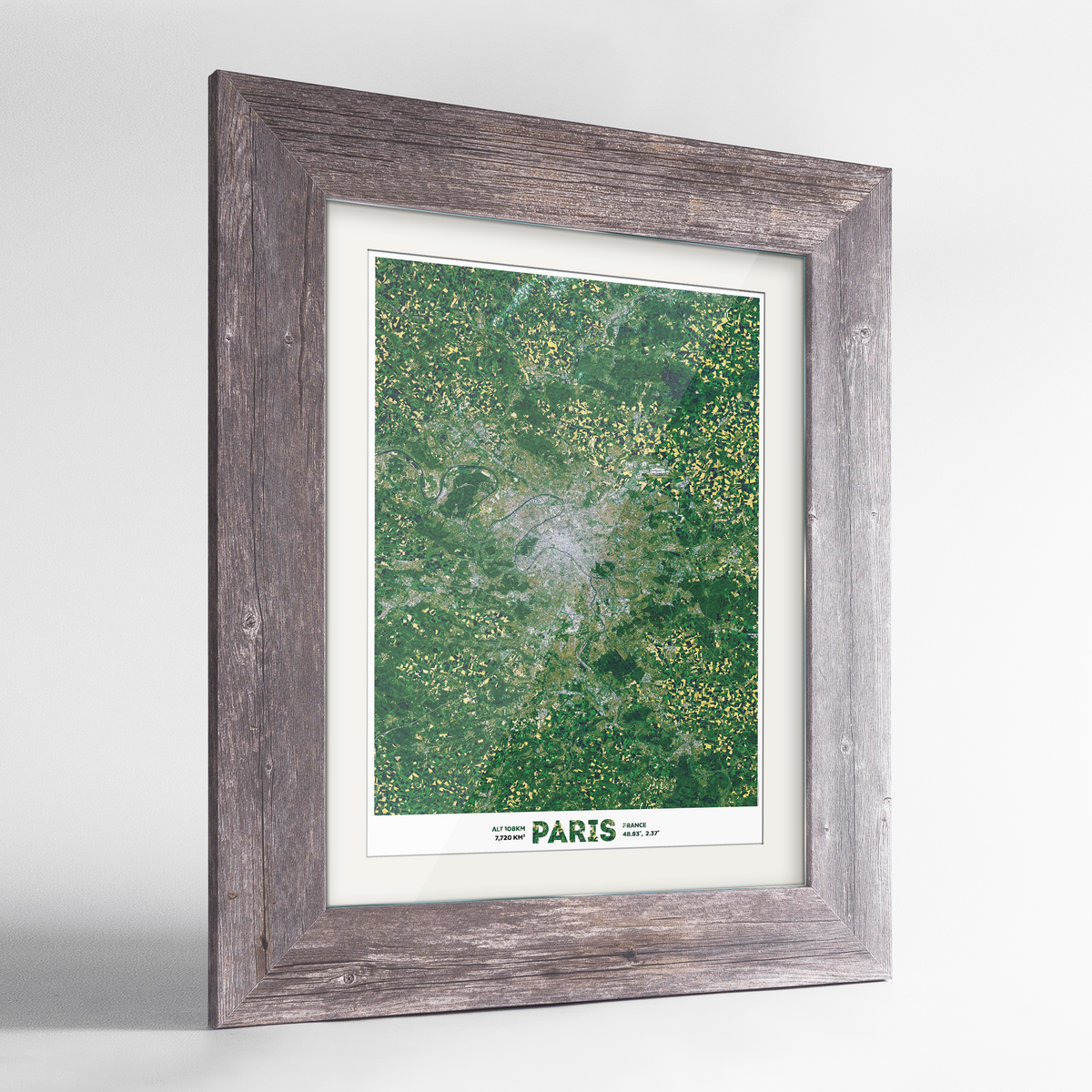 Greater Paris Earth Photography Art Print - Framed