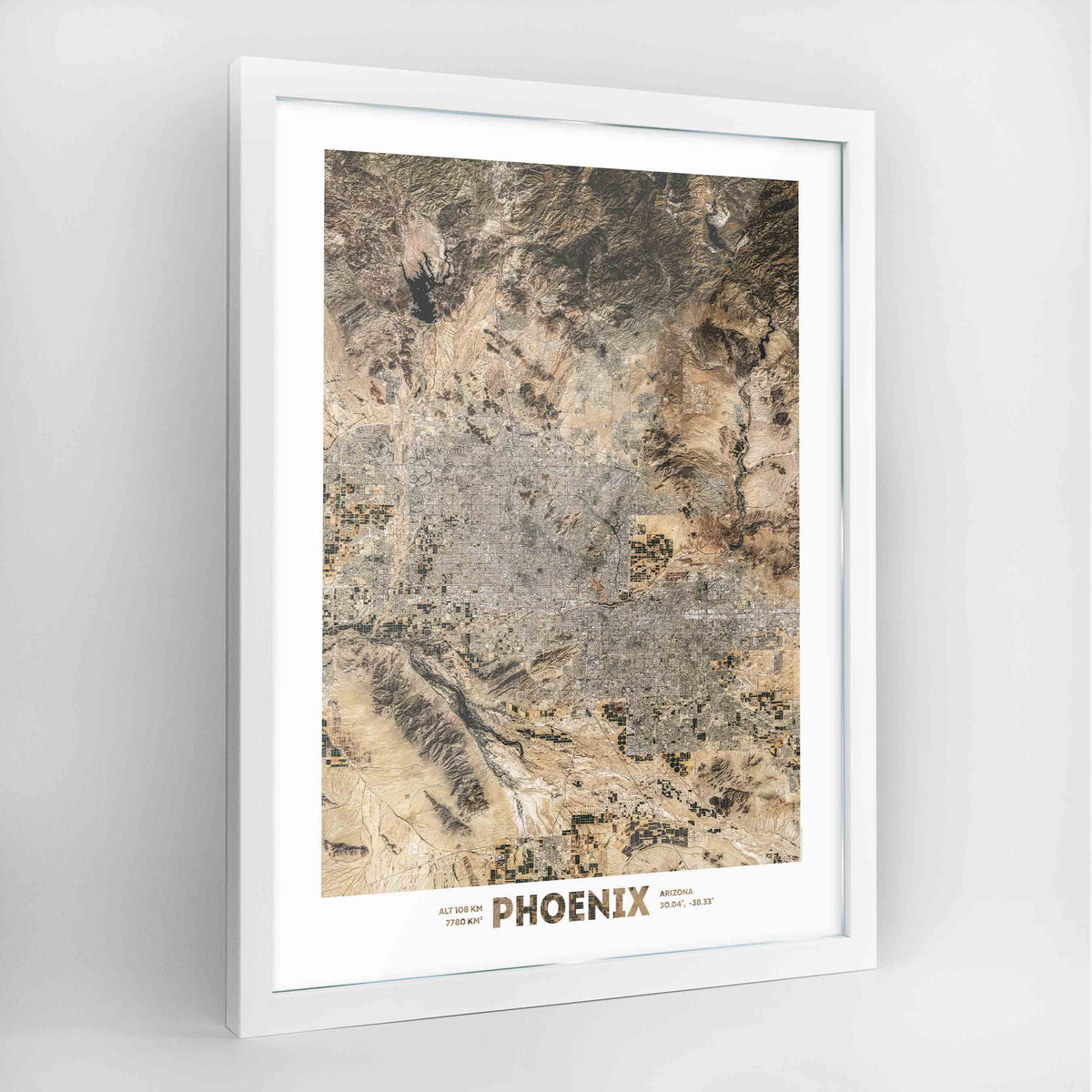 Phoenix Earth Photography Art Print - Framed
