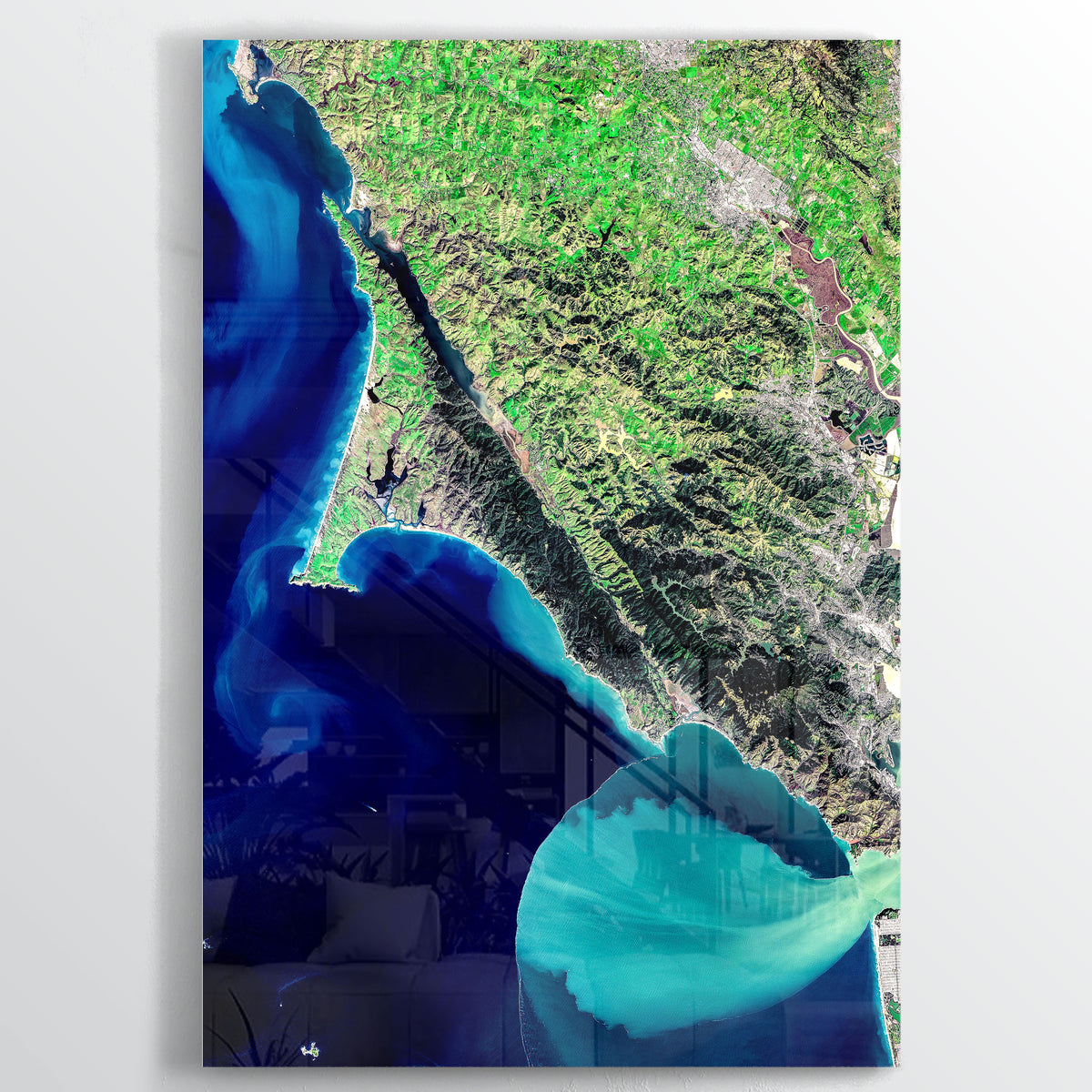 Point Reyes Earth Photography - Floating Acrylic Art