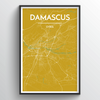 Damascus City Map Art Print - Point Two Design