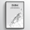 Dubai Map Art Print - Point Two Design