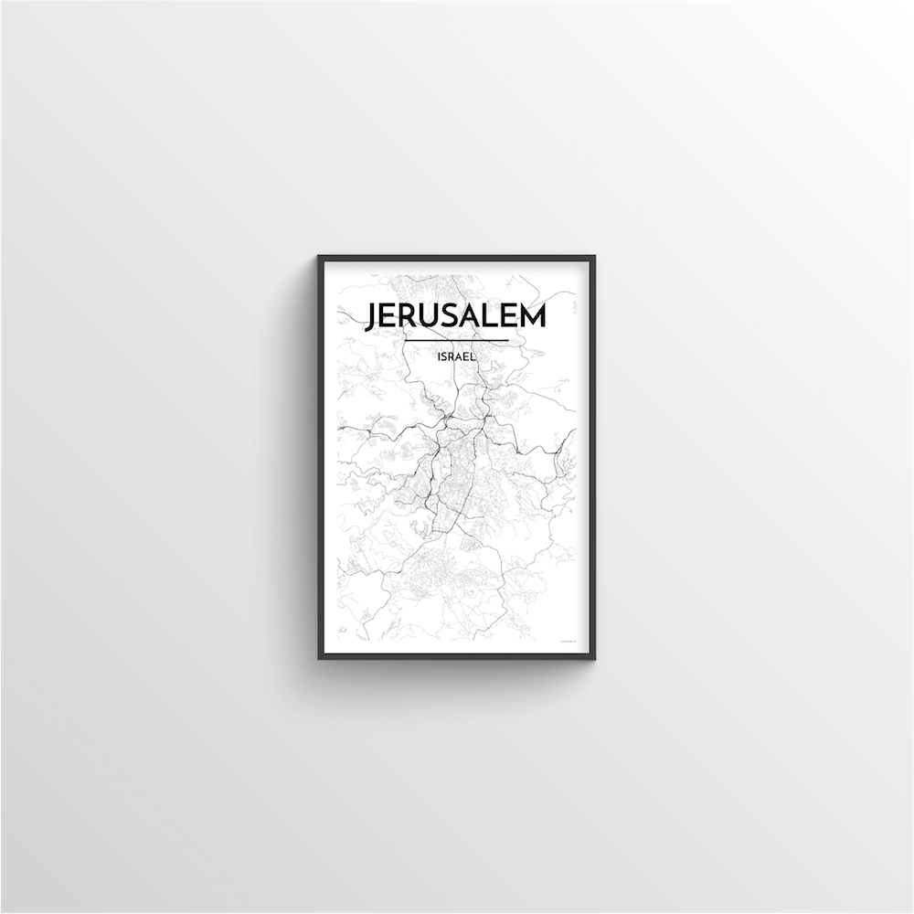 Jerusalem Map Art Print