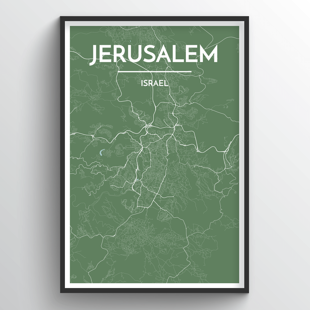Jerusalem Map Art Print - Point Two Design