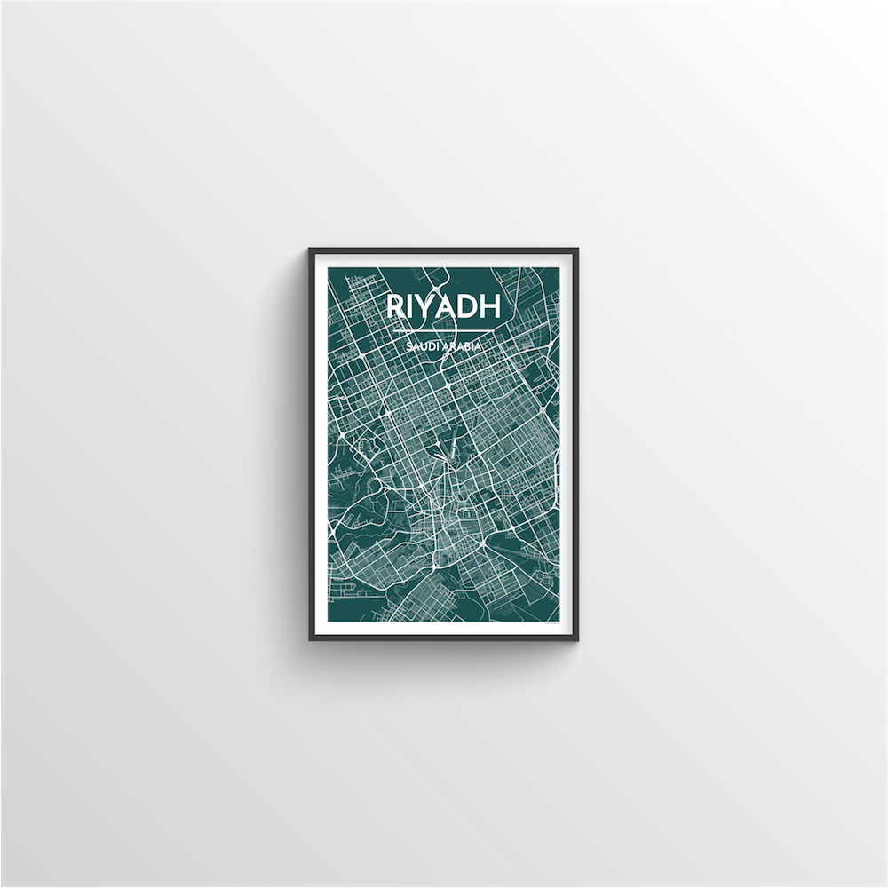 Riyadh Map Art Print - Point Two Design