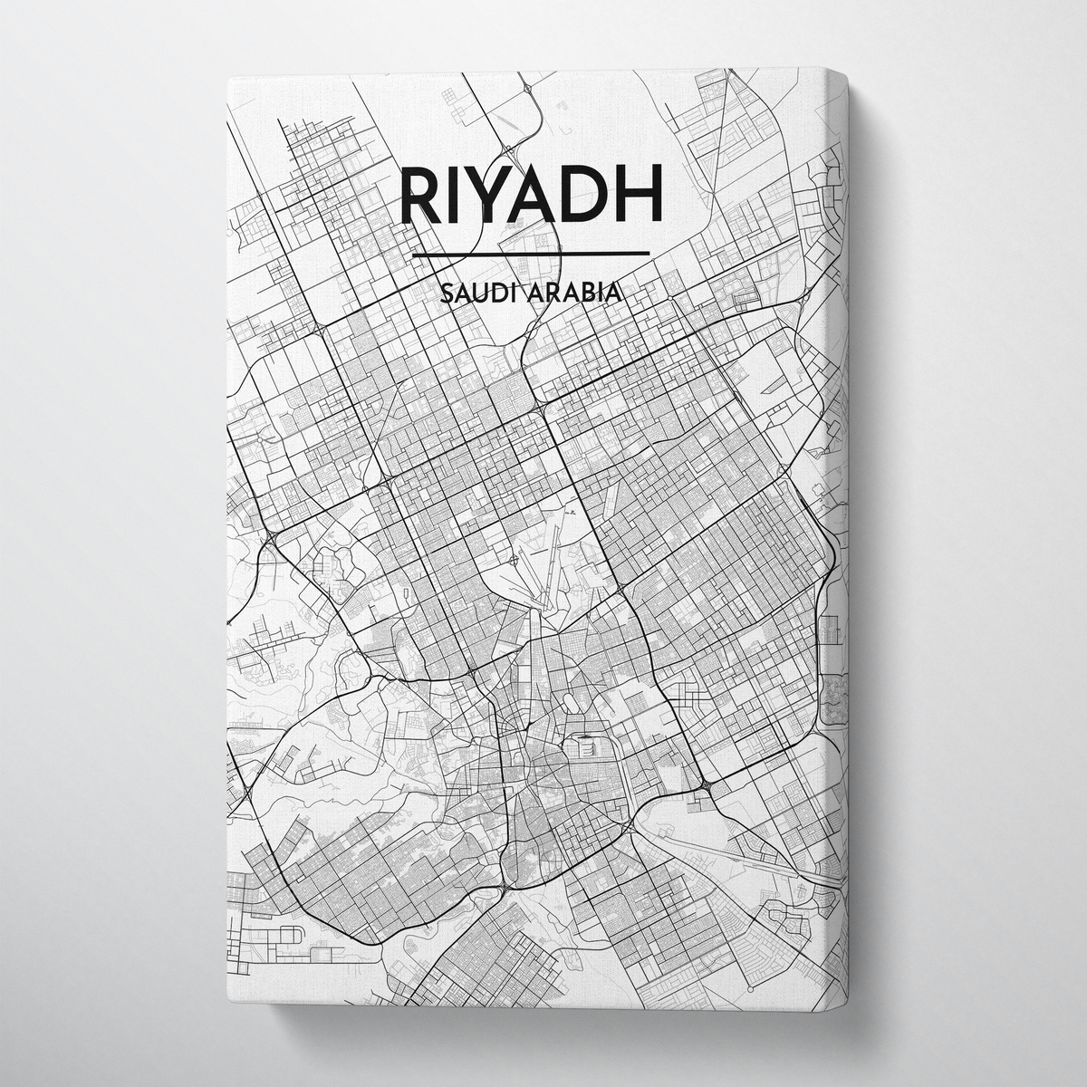 Riyadh Map Art Print Map Canvas Wrap - Point Two Design