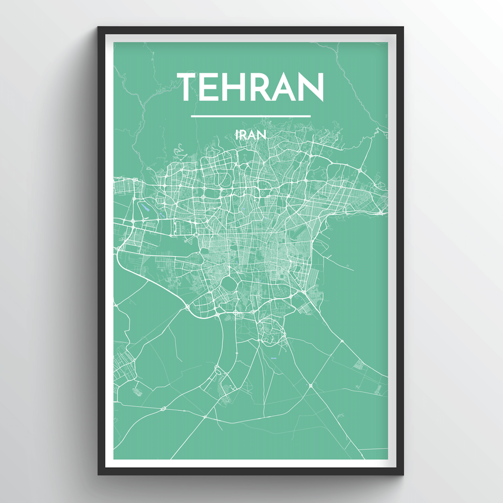 Tehran Map Art Print - Point Two Design