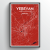 Yerevan City Map Art Print - Point Two Design