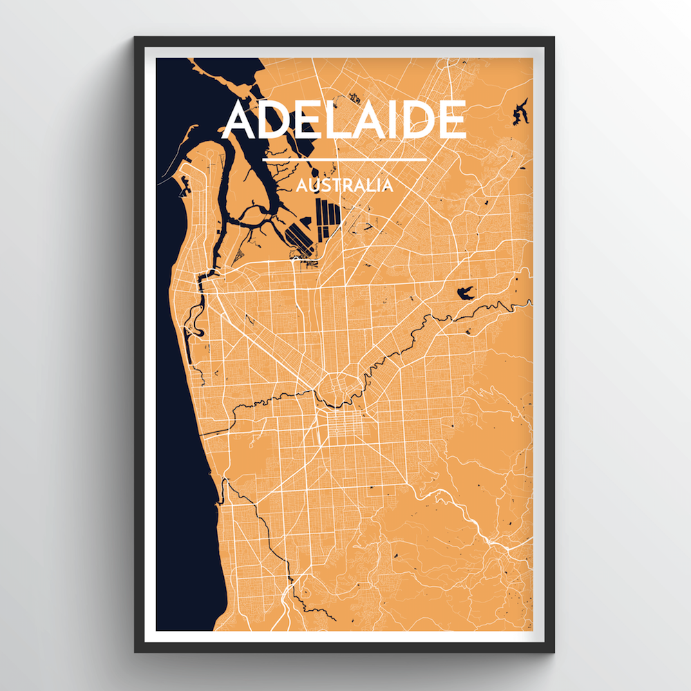 Adelaide Map Art Print - Point Two Design