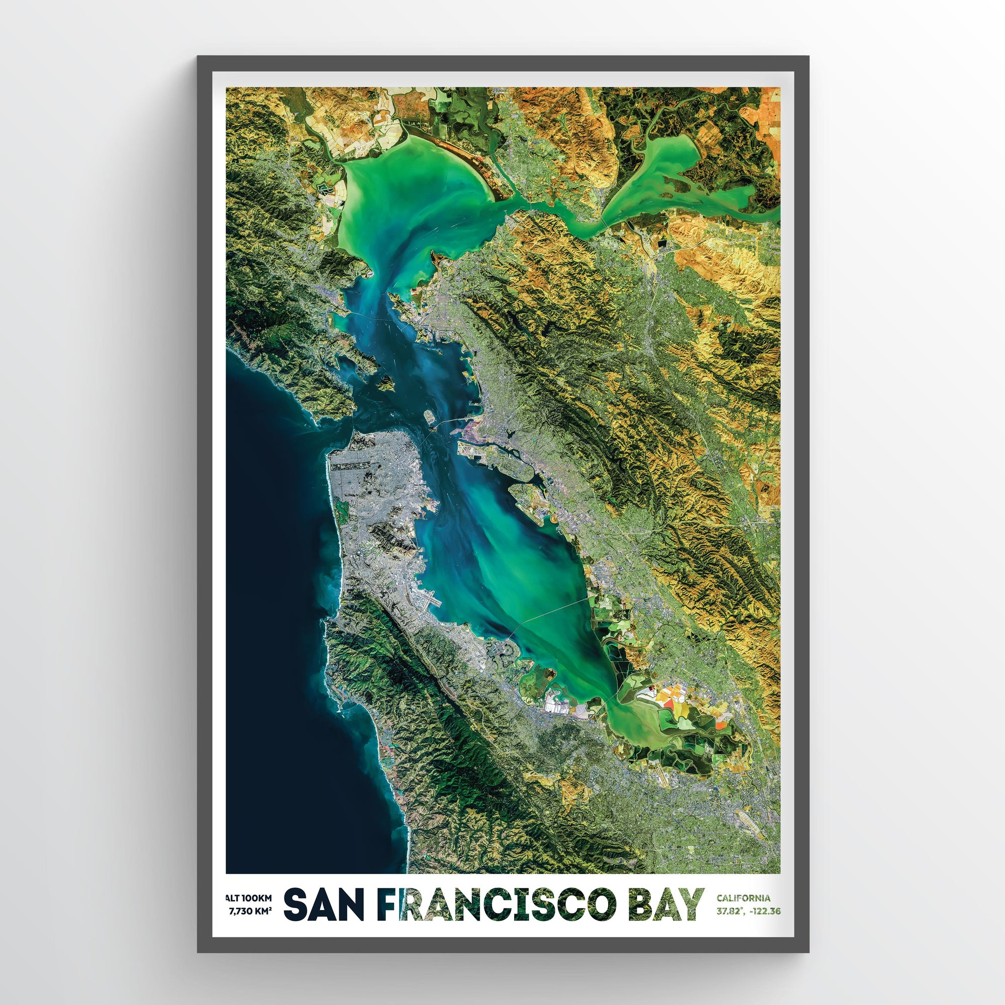 San Francisco Bay from Space - Fine Art
