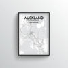 Auckland City Map Art Print - Point Two Design
