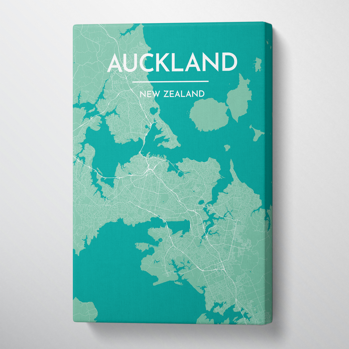 Auckland Map Canvas Wrap - Point Two Design