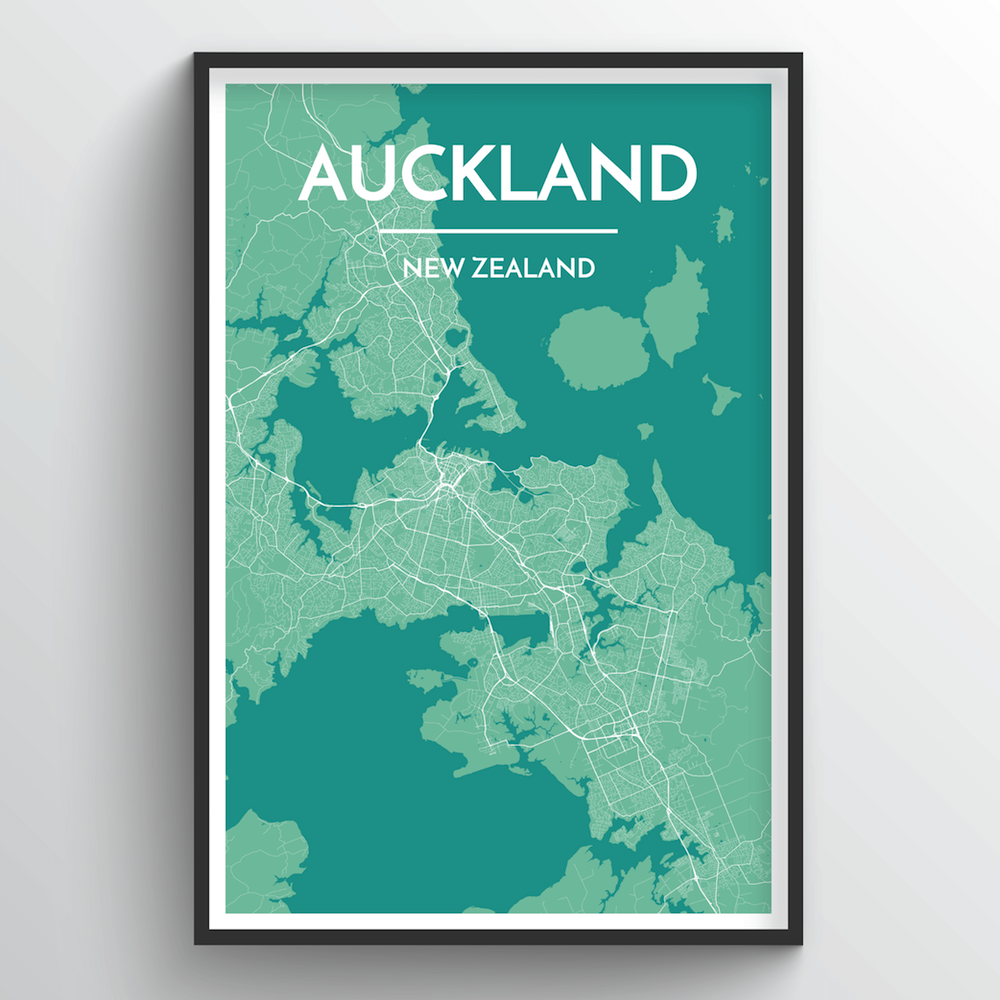 Auckland Map Art Print - Point Two Design