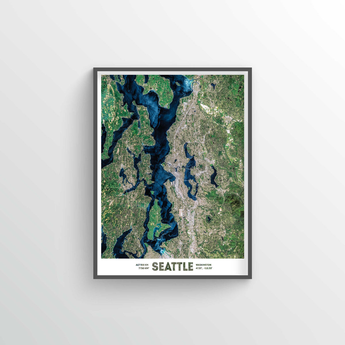 Greater Seattle Earth Photography - Art Print