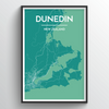 Dunedin Map Art Print - Point Two Design