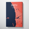 Perth City Map Canvas Wrap - Point Two Design