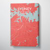 Sydney City Map Canvas Wrap - Point Two Design