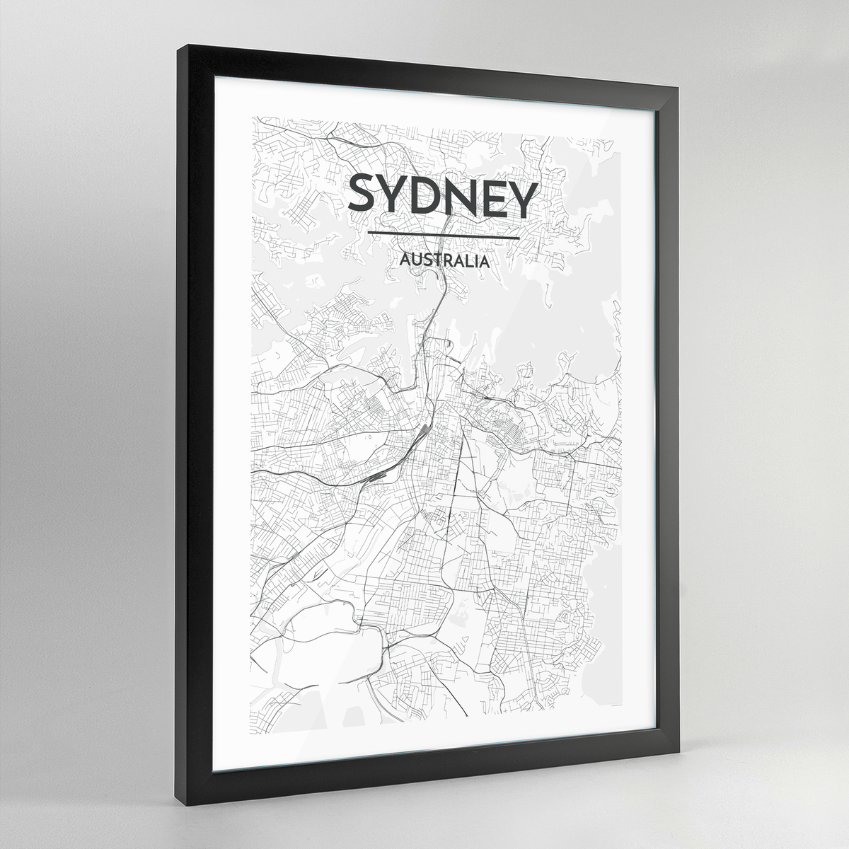 Sydney Map Art Print - Framed