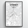 Sydney City Map Art Print - Point Two Design