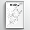 Terrigal City Map Art Print - Point Two Design
